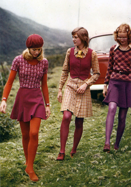 Vintage colorful tights. Will you wear them this fall?