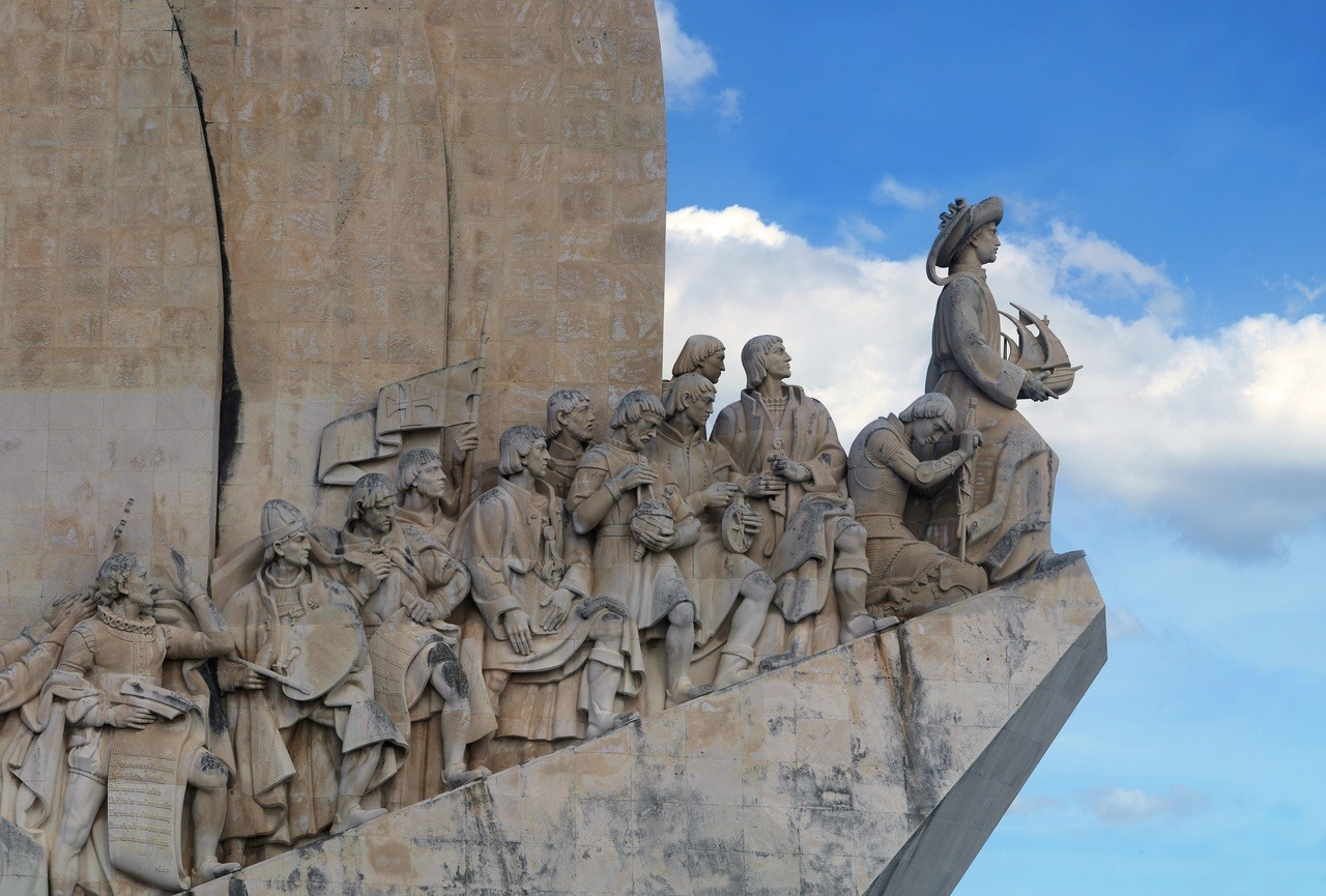 (high res) Padrão dos Descobrimentos is a monument on the northern margin of the Tagus River estuary, in the civil parish of Santa Maria de Belém, Lisbon. Located along the river were ships departed to explore and trade with India and Orient, the monument celebrates the Portuguese Age of Discovery (or Age of Exploration) during the 15th and 16th centuries.