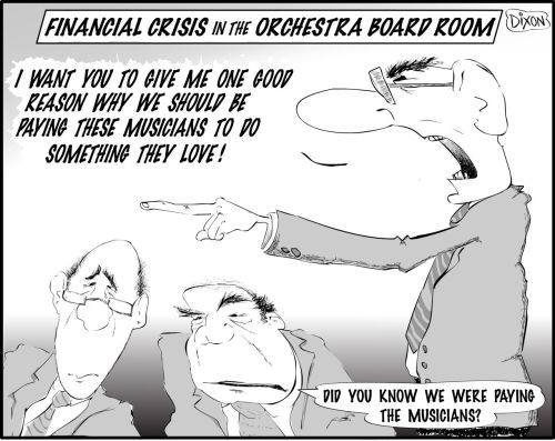 Financial Crisis in an orchestra's board room!