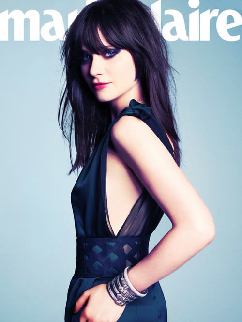 """I don't do well with direct questions"" she admits. Deschanel tends to think out loud, talking in rough drafts, starting a sentence, then stopping, then starting another one, crumpling that one up, too."