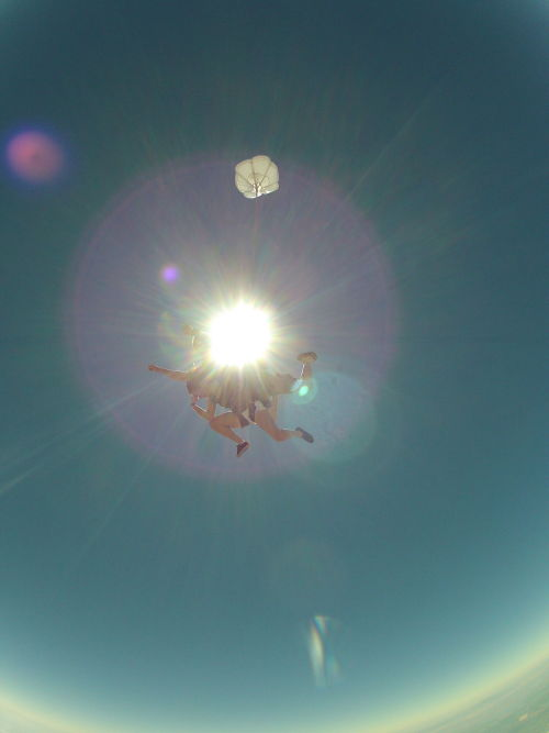 """Madison's 16th birthday and Tebowing on first skydive."""