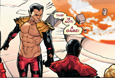 Poor Namor — Stuck wearing last year's Fire Island Pines swim suit to this year's low tea.  love-and-radiation:  sumphoenix:  Namor, the King of Ab-lantis.  Unf.