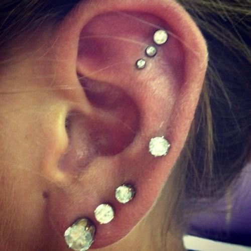 triple piercing on Tumblr
