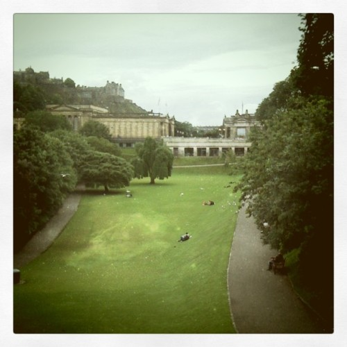 In my park [ writing in #Edinburgh ] (Taken with Instagram)