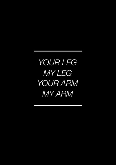 Your leg, My leg Your arm, My arm Blue Morning Prints