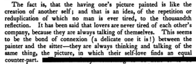 "from William Hazlitt's ""On Sitting For One's Picture,"" 1823"