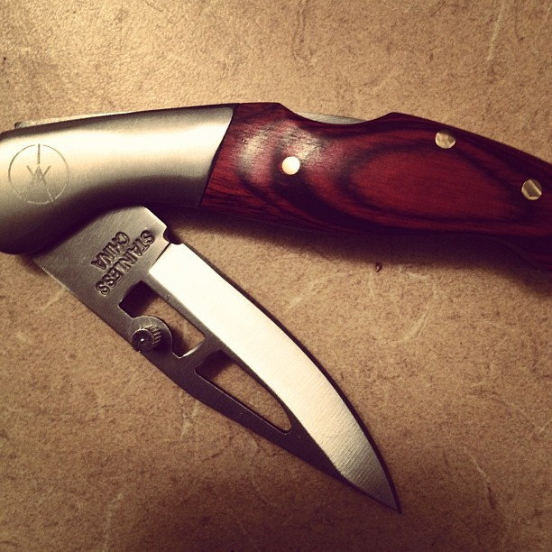 This weekend I got an Iceage pocket knife. Molesters beware.  (Taken with Instagram)