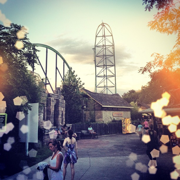 Rode Kingda Ka twice! Best day ever 😁👌👍🏁🏁🏁🚄 (Taken with Instagram)