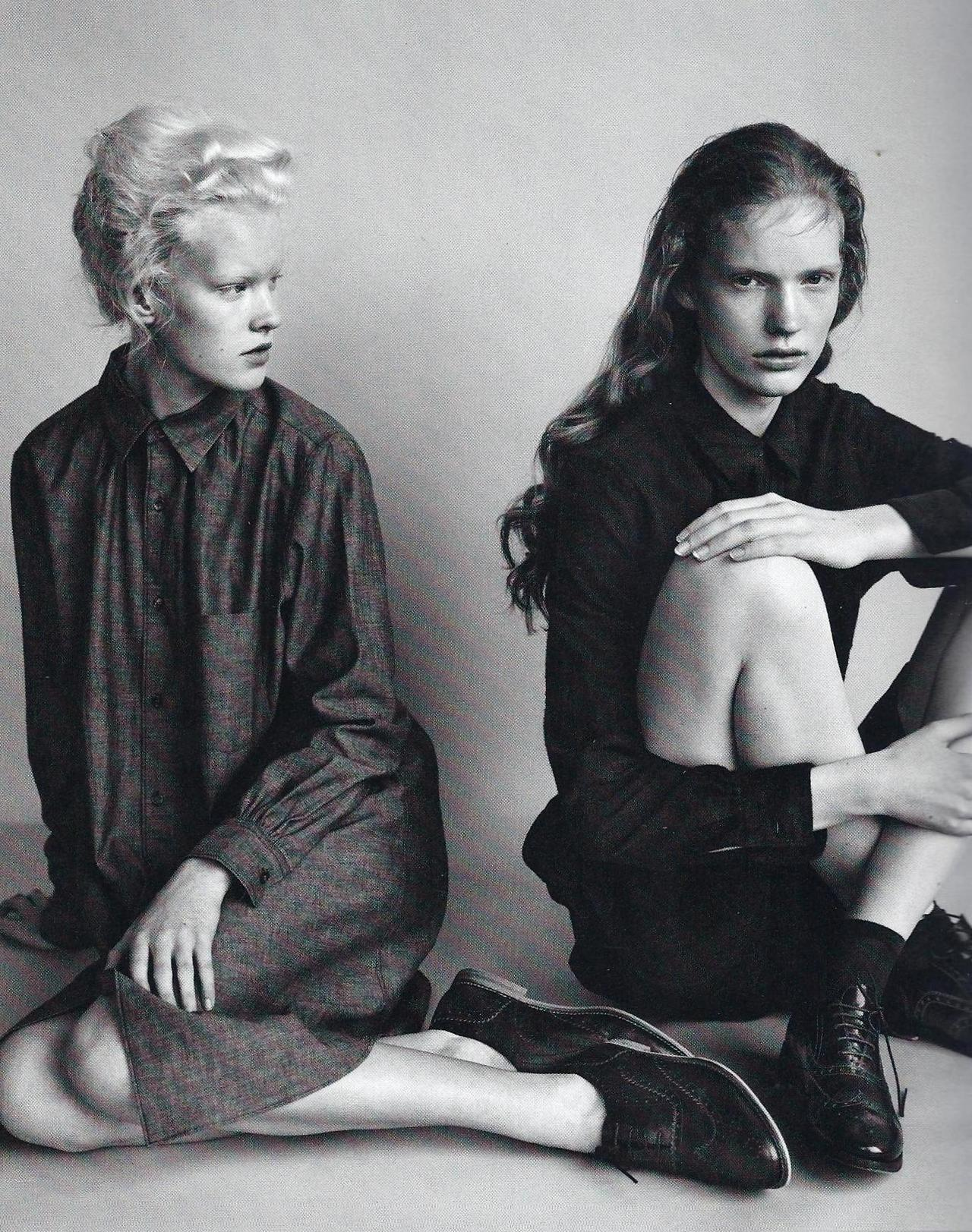 moisieur:  Linn Arvidsson and Anniek Kortleve shot by Josh Olins for i-D
