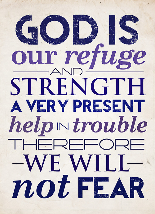 God is my refuge!