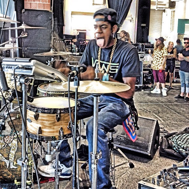 "This can't be life… ""Blizzy"" on drums!!!  #Connecticut #drumlife #drumgang #geazy  (Taken with Instagram)"