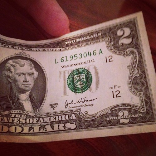 2 dolla dolla bills y'aaaal. (Taken with Instagram)