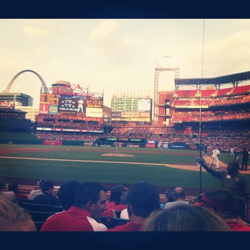 Green seats yo! (Taken with Instagram at Busch Stadium)