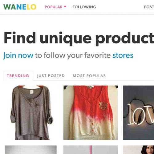 Did you see? Wanelo has an updated look today :) by wanelo http://instagr.am/p/Ne_B5vlQPB/