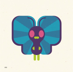 no. 012Butterfree In battle, it flaps its wings at high speed, releasing highly toxic dust into the air