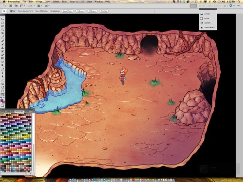 Working on some caverns! *Not the actual size/resolution in game.