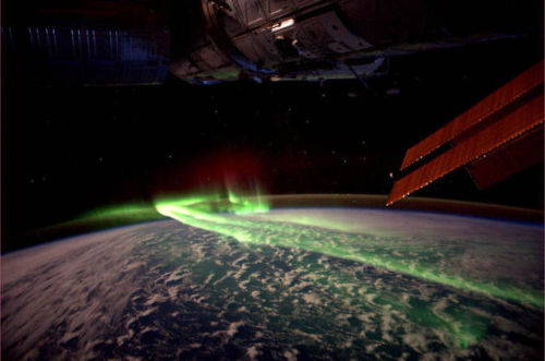 wordslessspoken:  Aurora australis (southern lights) from space  ENERGY! It's what chakra clothing is about - create the foundation for a positive existence by surrounding yourself with positive energy! www.chakrawear.com
