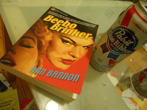 Tonight's pure class. 1950s Lesbian pulp and a PBR. Welcome to my seedy underbelly.