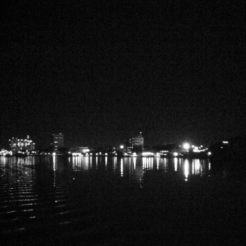 Night time boat ride.  (Taken with Instagram)