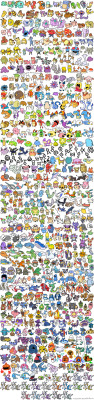 493 pokemon by One Eyed Me
