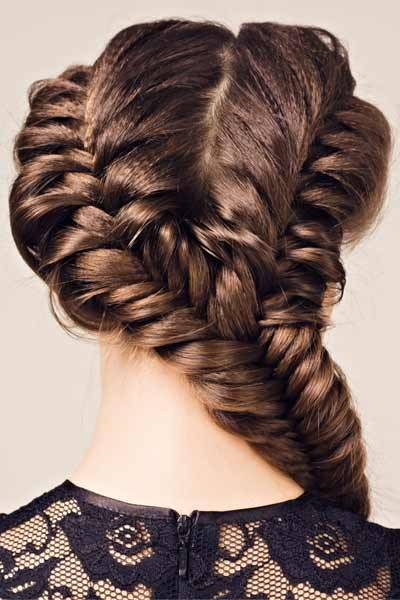 Different Braids – Double and Triple Up! Try these double and triple plaits for a dazzling and different braided look! These fabulous braided hairstyles work with every braiding technique. These looks are as simple as dividing hair into two or three sections and braiding as usual. The multiple plaits can be braided together into one braid or tied together. Now, check out these gorgeous double and triple braid pictures to take your braided hairstyle to the next level!