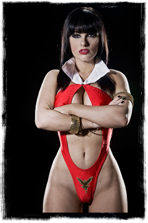brightestblackestnight:  Tribute to Vampirella - Photoshoot by Jeff Zoet