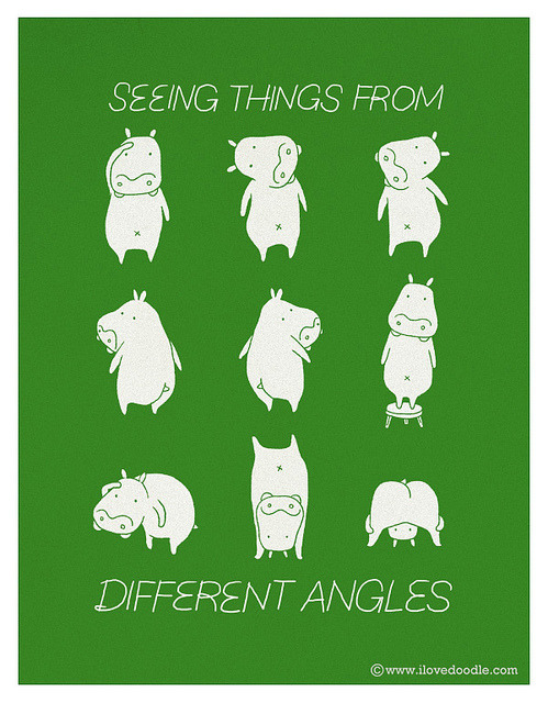 ilovedoodle:  Try to see things from different angles on Flickr. Doodle Everyday 322Website / Facebook / Twitter / Tumblr / Etsy