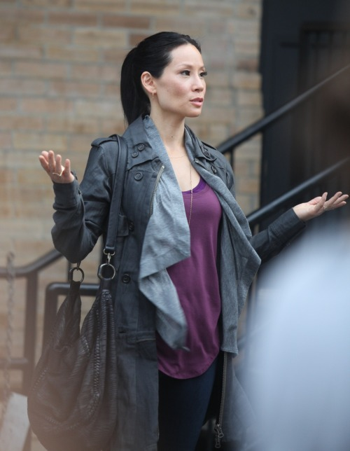fabraycohenchang:  Lucy Liu on the set of Elementary, July 24 2012