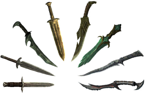 HNNNGGG Skyrim daggers…So pretty…