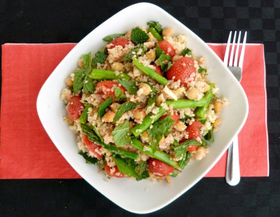 Roasted Strawberry, Chickpea & Asparagus Cous Cous     (click image for recipe)