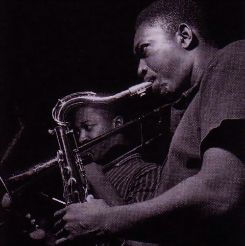 Curtis Fuller and John Coltrane during 'Trane's Blue Train session, Hackensack NJ, September 15 1957 (photo by Francis Wolff)