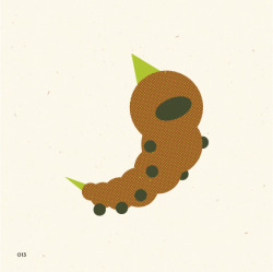 no. 13Weedle Often found in forests, eating leaves. It has a sharp, venomous stinger on its head.