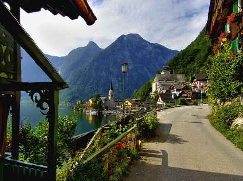 visitheworld:  A different perspective of Hallstatt, Austria (by James Neeley).