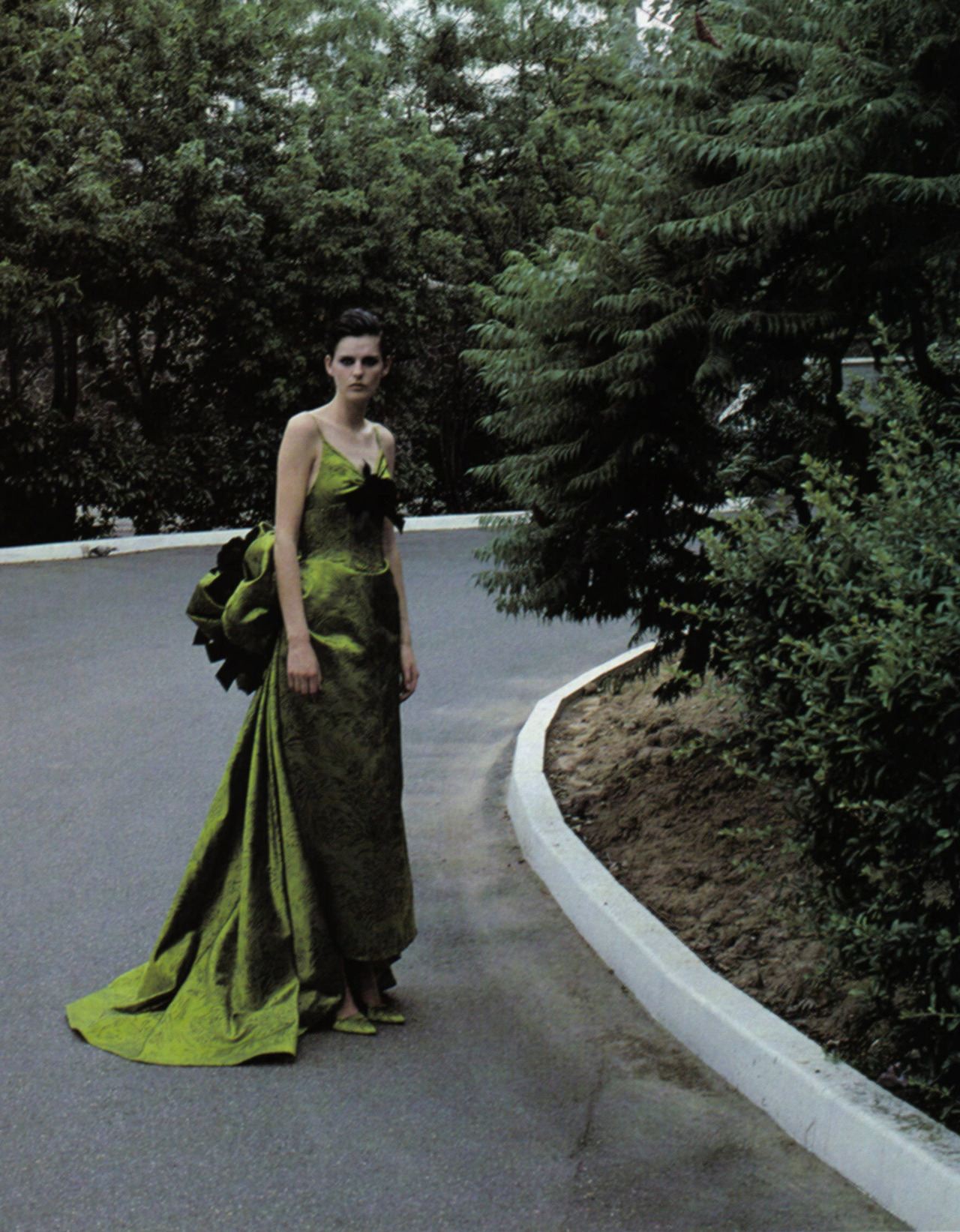 Ball Gowns. Stella Tennant in Nina Ricci Fall 1995 haute couture, photographed by Mark Borthwick for Vogue Italia, September 1995.