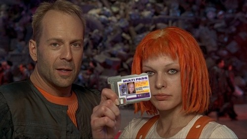 The Fifth Element (1997) PG-13 - 2hr 5m In this imaginative sci-fi epic, a 23rd-century cabbie finds himself involved with a fetching alien who may hold the key to saving the world. But it's curtains for planet Earth unless the duo can stay a step ahead of a demented villain named Zorg. 7.6/10 - IMDB View Trailer || Add/Watch on Netflix (via:netflixia)