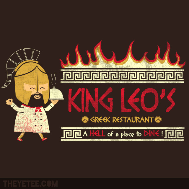 Limited Edition Tshirt: Spartan Cuisine by Teo Zirinis is on sale for $11.00  from TheYetee for 48 hours only.