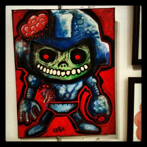 SOLD! Mega Man Zombie… Thinking of doing a digital version of this piece and yes I know he's a robot