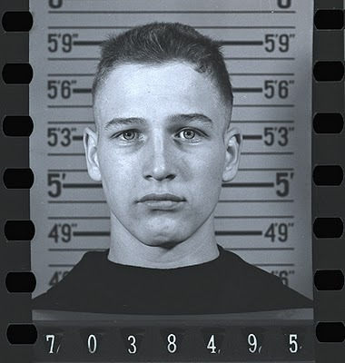 "Young PAUL NEWMAN when he joined the Navy in 1943, during World War II.  Profile on Paul Newman in ""Navy Times"""