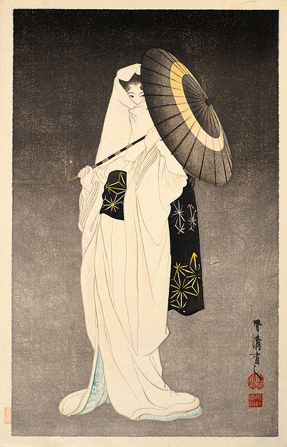 Ukiyo-e Spirit of the Heron Maiden by griffinlb on Flickr.