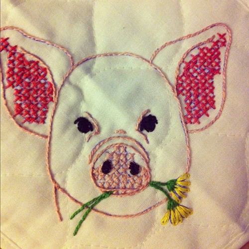 #embroidery #stitch #pig (Taken with Instagram)