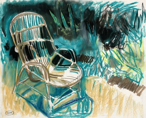 Alexander Goudie Wicker Chair 1985
