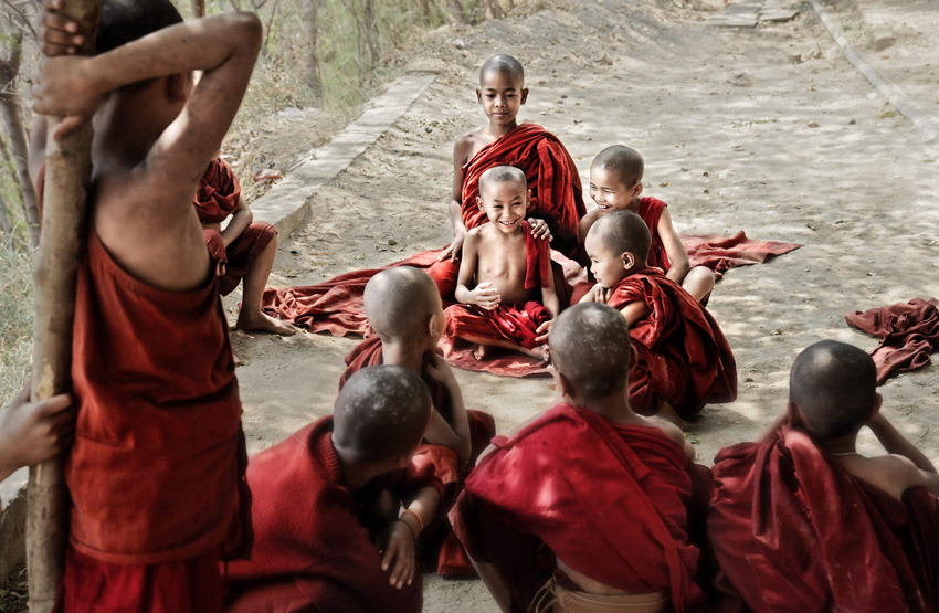 The Life of Novice Monks, Myanmar (by David_Lazar)
