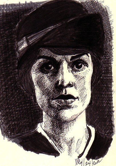 Drawing practice….sketching Michelle Dockery in my moleskine