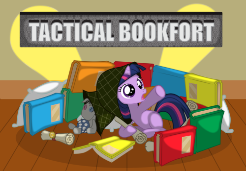 xiest:  Tactical Bookfort by ~SpaceKingofSpace