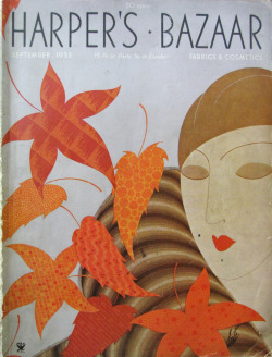 Harper's Bazaar cover by Erté1933 Flickr: Gypsyskirtvintage
