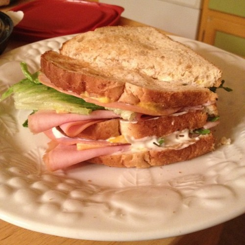 Diesel ass sandwich I made for babe 😳 (Taken with Instagram)