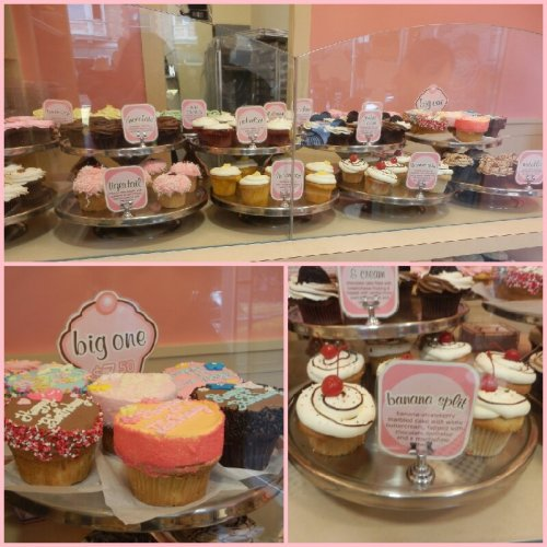 cupcakes display at cupcakes!