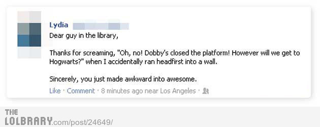 thefunnyshitblog:  Dear guy in the libraryFollow this blog for the best new funny pictures every day