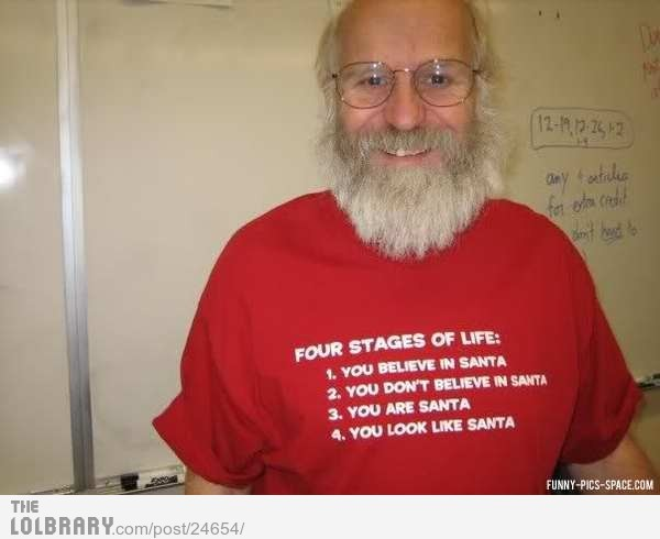 thefunnyshitblog:  The 4 stages of Santa ClausFollow this blog for the best new funny pictures every day