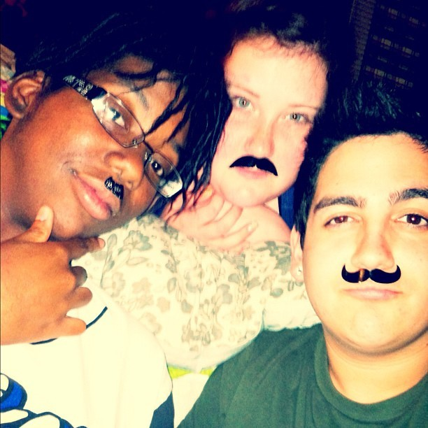 #mustache night #ftw? I think yes. ❤👍💩👨 #mustachenight #hangout #bestfriends #love #instagram #me #selfportrait #self #portrait #friendship #gay #gayboy #boy  (Taken with Instagram)